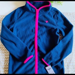 OshKosh Girls Zip Up Fleece — NWT Size 8
